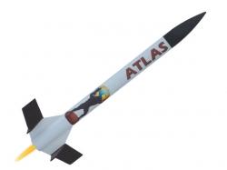 Modellrakete Atlas 495x35mm, 70g, 100  bis 500m Höhe