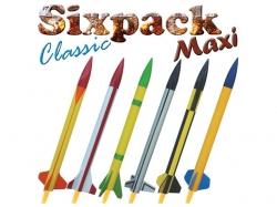 Modellraketen Sixpack Classic MAXI 495x35mm, 70g, 100 bis ..