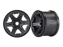 "Traxxas 8671 Wheels, 3.8"" (black) (2) (17mm splined)"