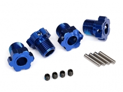 Traxxas 8654 Wheel hubs, splined, 17mm (blue-anodized) (4)..