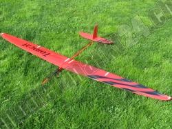 RCRCM Tomcat Spw. 2,6m CFK+(Carbon) Rot/Schwarz mit Schutz..