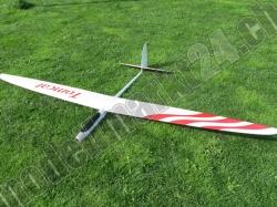 RCRCM E-Tomcat Spw.2.6m CFK+(Carbon) Weiss/Rot mit Schutzt..