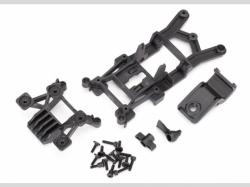 Traxxas 6720 Body mounts, front & rear/ 3x12mm CS (4)/ 3x12mm shoulder screw (2)