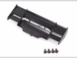 Traxxas 6721 Wing, Rustler 4X4 (black)/ 3x8mm FCS (3)
