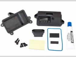 Traxxas 6724 Box, receiver (sealed)/ foam pad/ 2.5 x8mm CS (4)/ 3x10mm CS (2)