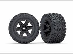 Traxxas 6773 Tires & wheels, assembled, glued (2.8 ') (RXT black wheels, Talon E