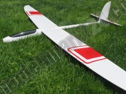 RCRCM E-Hornet Spw. 2,0m Doppel-CFK(Carbon) Weiss/Rot