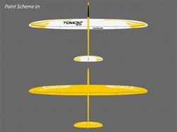 PnP RCRCM Tomcat Evo 2.5m CFK Gelb/Weiss Seglerversion