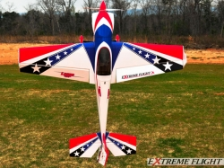 "EXTREMEFLIGHT-RC LASER 60"" V2 PRINTED ROT/WEISS/BLUE ARF"