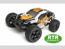ECX Monstertruck RUCKUS Orange/Weiss 1:10 4WD EP RTR, RC-M..