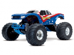 Traxxas Bigfoot 2WD Rot/Weiss/Blau RTR 1:10 Monster Truck ..