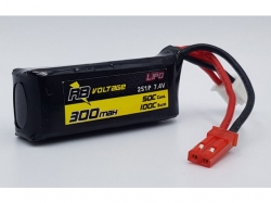 RB Voltage 300mAh 2S 50C XH/BEC LiPo-Akku