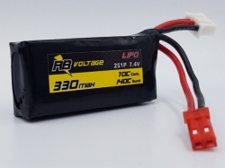 RB Voltage 330mAh 2S 70C XH/BEC LiPo-Akku