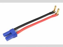 Adapterkabel - Bullit 4mm Gold > EC-5 Stecker - 12cm - 1 pc