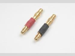 Convertisseur connect. 3.5mm 1x à connect 4.0mm doré