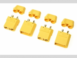 Steckverbinder XT-90Hm/Kappe S+B 2P