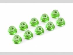 Sechskantmut. mit Bund grün M5 10x