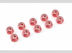 Sechskantmut. Selbstsich rot M4 10x