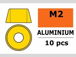 Unterlegscheibe M2 Zylind. Gold 10x
