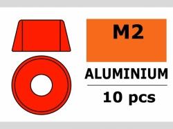 Unterlegscheibe M2 Zylind. Rot 10x