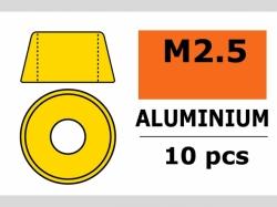 Unterlegscheibe M2.5 Zyl. Gold 10x