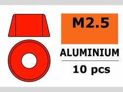 Unterlegscheibe M2.5 Zyl. Rot 10x