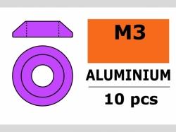 Unterlegscheibe M3 Lins. Violet 10x