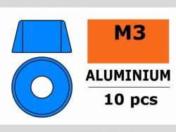 Unterlegscheibe M3 Zylind. Blau 10x