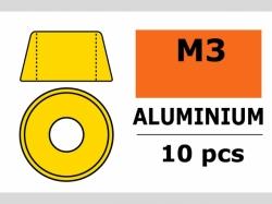 Unterlegscheibe M3 Zylind. Gold 10x