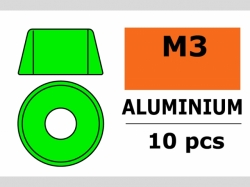 Unterlegscheibe M3 Zylind. Grün 10x