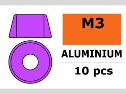 Unterlegscheibe M3 Zylind. Violet 10x