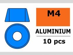 Unterlegscheibe M4 Zylind. Blau 10x