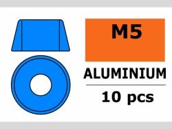 Unterlegscheibe M5 Zylind. Blau 10x