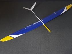 RCRCM Link CFK Blau/Gelb/Weiss F3F/F3B 2.9m mit Schutztasc..