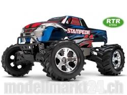 Traxxas STAMPEDE 4WD RTR Monster Truck 1:10 TQ 2.4GHz Blau..
