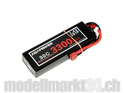 AGA-Power LiPo-Akku 3300mAh 7,4V 30C 2S1P Hard-Pack