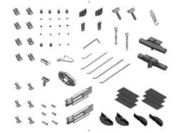 Multiplex Kleinteilesatz und Motorträger FunCub