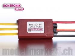 Kontronik JIVE 100+ LV Brushless ESC mit S-BEC 5-6V/5A