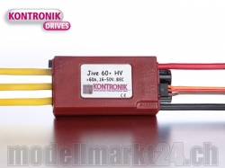 Kontronik JIVE 60+ HV Brushless ESC mit S-BEC 5-6V/5A
