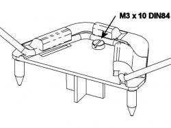 Multiplex Fahrwerkshalter m. Schraube MiniMag / AcroMaster