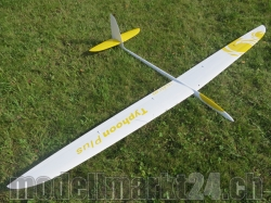 RCRCM Typhoon Plus F3B Spw.2980mm CFK+ Weiss/Gelb mit Schu..