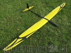 RCRCM E-Tabu Spw. 2.976m Doppel-CFK+ Gelb/Schwarz mit Schu..