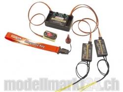 Jeti Central Box 200 + 2x Rsat2 mit Magnetschalter