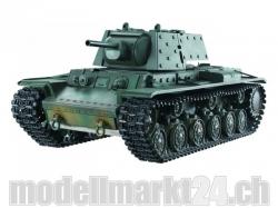 Panzer KV-1 2.4 GHz 1/16 BB Airbrush Grün mit Metallketten