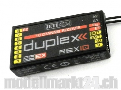 Jeti Empfänger Duplex Rex10 2.4Ghz Telemetrie