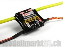 Jeti MUI50EX Spannungs- und Stromsensor 60V/50A für Duplex..