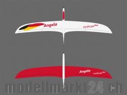 RCRCM E-Angela CFK Spw.2000mm Weiss/Rot mit Schutztaschen,..