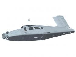 Rumpf Pilatus PC6 von Multiplex ohne Elektronik und Akkude..