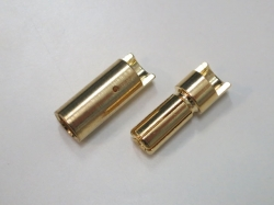 Bullet-Goldstecker 5.5mm (6 Paare) Typ1