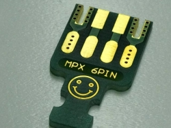 Emcotec MPX-Platine 6 Pins ohne Verbinder mit vorb. Zugent..